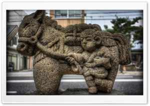 A Man And His Horse Statue HD Wide Wallpaper for Widescreen