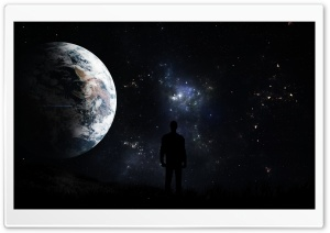 A Man Looking At The Stars HD Wide Wallpaper for Widescreen