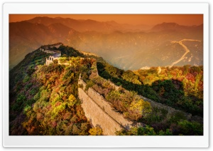 A moody evening at the Great Wall HD Wide Wallpaper for 4K UHD Widescreen desktop & smartphone