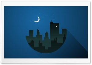 A Moonlit Night HD Wide Wallpaper for Widescreen