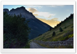 A Mountain Road HD Wide Wallpaper for Widescreen