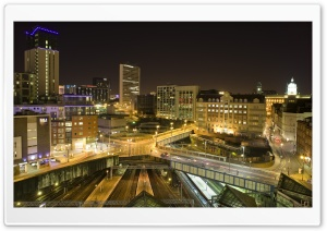 A Night In Birmingham HD Wide Wallpaper for 4K UHD Widescreen desktop & smartphone