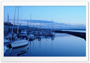 A Peaceful Harbor HD Wide Wallpaper for Widescreen