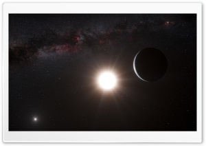 A Planet Around Alpha Centauri HD Wide Wallpaper for 4K UHD Widescreen desktop & smartphone