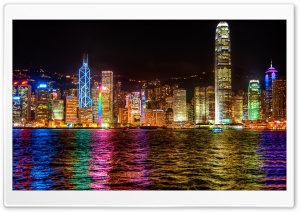 A Symphony of Lights Hong Kong HD Wide Wallpaper for 4K UHD Widescreen desktop & smartphone