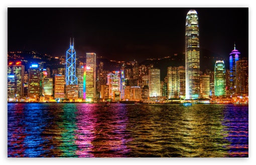 A Symphony of Lights Hong Kong HD wallpaper for Wide 16:10 5:3 Widescreen WHXGA WQXGA WUXGA WXGA WGA ; HD 16:9 High Definition WQHD QWXGA 1080p 900p 720p QHD nHD ; Mobile 5:3 16:9 - WGA WQHD QWXGA 1080p 900p 720p QHD nHD ;