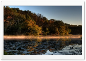 A Tinge of Fall, Jensen Lake, Lebanon Hills Park, Eagan, Minnesota HD Wide Wallpaper for Widescreen