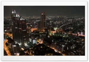A View From Tokyo Metropolitan Government Building Observation HD Wide Wallpaper for Widescreen