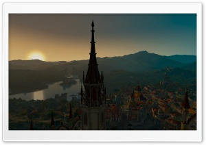 A view of Beauclair from the Palace 16K HD Wide Wallpaper for 4K UHD Widescreen desktop & smartphone