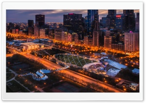 A View Of Millennium Park HD Wide Wallpaper for 4K UHD Widescreen desktop & smartphone