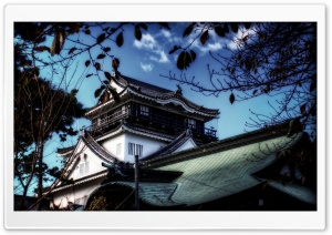 A View Of Okazaki Castle HD Wide Wallpaper for 4K UHD Widescreen desktop & smartphone