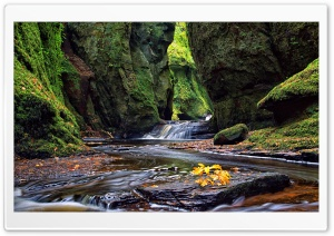 A Walk Through Finnich Glen HD Wide Wallpaper for 4K UHD Widescreen desktop & smartphone