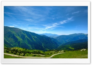 A Winding Mountain Road HD Wide Wallpaper for Widescreen