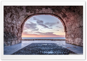 A Window to The Mediterranean Sea, Altafulla Catalonia HD Wide Wallpaper for 4K UHD Widescreen desktop & smartphone