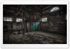 Abandoned Building Interior HD Wide Wallpaper for Widescreen