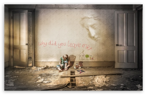 Download Abandoned Child UltraHD Wallpaper