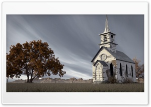 Abandoned Church 3D HD Wide Wallpaper for 4K UHD Widescreen desktop & smartphone