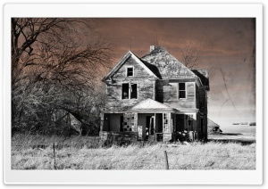 Abandoned House, Northwest Iowa HD Wide Wallpaper for Widescreen