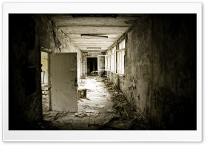 Abandoned School HD Wide Wallpaper for Widescreen