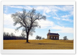 Abandoned Schoolhouse   Arvonia, Kansas HD Wide Wallpaper for Widescreen
