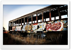 Abandoned Train HD Wide Wallpaper for Widescreen