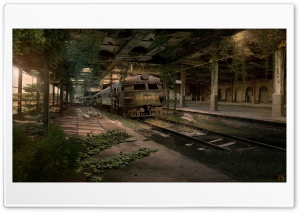 Abandoned Train Station HD Wide Wallpaper for Widescreen