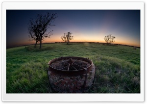 Abandoned Water Well HD Wide Wallpaper for Widescreen