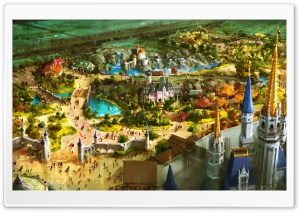 Above Fantasyland HD Wide Wallpaper for Widescreen