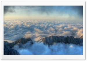 Above The Clouds HDR HD Wide Wallpaper for Widescreen
