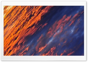 Above The Orange Clouds HD Wide Wallpaper for Widescreen