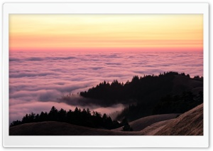 Above the Sea of Fog after Sunset Ultra HD Wallpaper for 4K UHD Widescreen desktop, tablet & smartphone