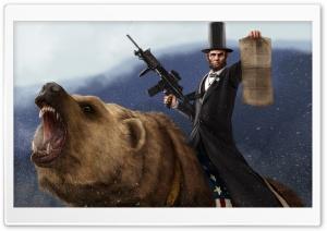Abraham Lincoln Artwork HD Wide Wallpaper for Widescreen