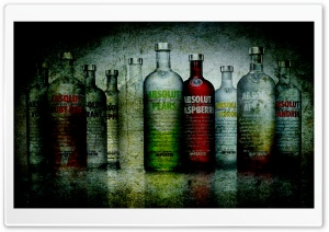 Absolut Vodka Bottles Grunge HD Wide Wallpaper for Widescreen