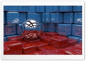 Abstract 3D Cubes HD Wide Wallpaper for Widescreen