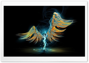 Abstract Angel HD Wide Wallpaper for Widescreen