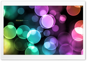 Abstract Background Colorful Circles Green Cyan Magenta Orange HD Wide Wallpaper for Widescreen