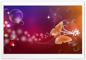 Abstract Butterfly Illustration HD Wide Wallpaper for Widescreen