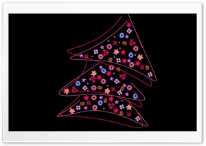 Abstract Christmas Tree HD Wide Wallpaper for Widescreen
