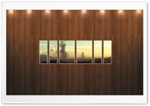 Abstract Field Picture   Wood Wall HD Wide Wallpaper for Widescreen