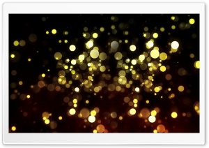 Abstract Golden Bokeh HD Wide Wallpaper for Widescreen