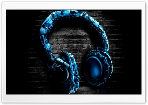Abstract Headphones HD Wide Wallpaper for Widescreen