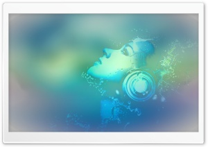 Abstract Music Girl HD Wide Wallpaper for Widescreen