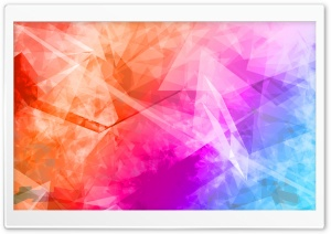 Abstract Polygonal Colorful Background HD Wide Wallpaper for Widescreen