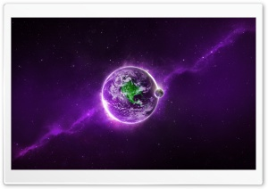 Abstract Purple Earth HD Wide Wallpaper for Widescreen