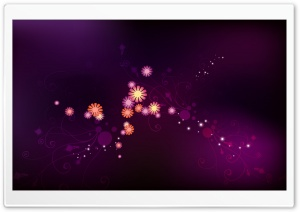 Abstract Purple Flowers HD Wide Wallpaper for Widescreen