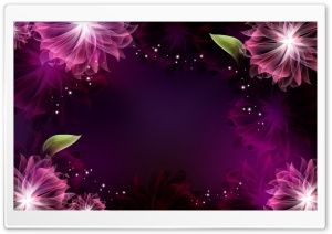 Abstract Purple Flowers 1 HD Wide Wallpaper for Widescreen