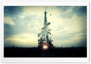Abstract Tower Eiffel HD Wide Wallpaper for Widescreen