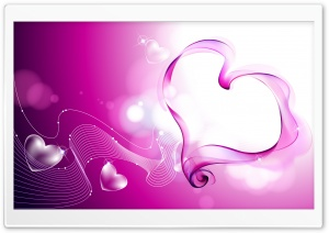 Abstract Valentine Hearts Ultra HD Wallpaper for 4K UHD Widescreen desktop, tablet & smartphone