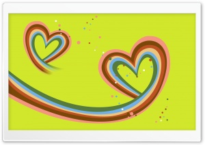 Abstract Valentine Hearts HD Wide Wallpaper for Widescreen