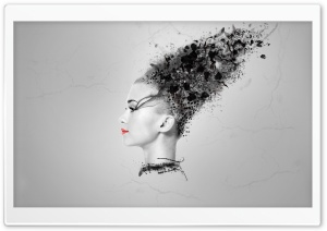 Abstract Woman Head HD Wide Wallpaper for Widescreen